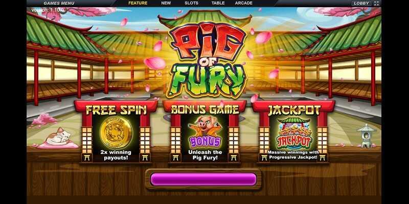 PIG OF FURY เกมสล็อต